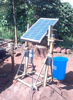 Image: A SunSaluter unit during pilot testing in Tanzania.
