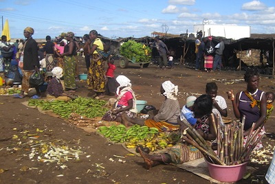 Informal farmer market in Mozambique, Africa, NextBillion Health Care