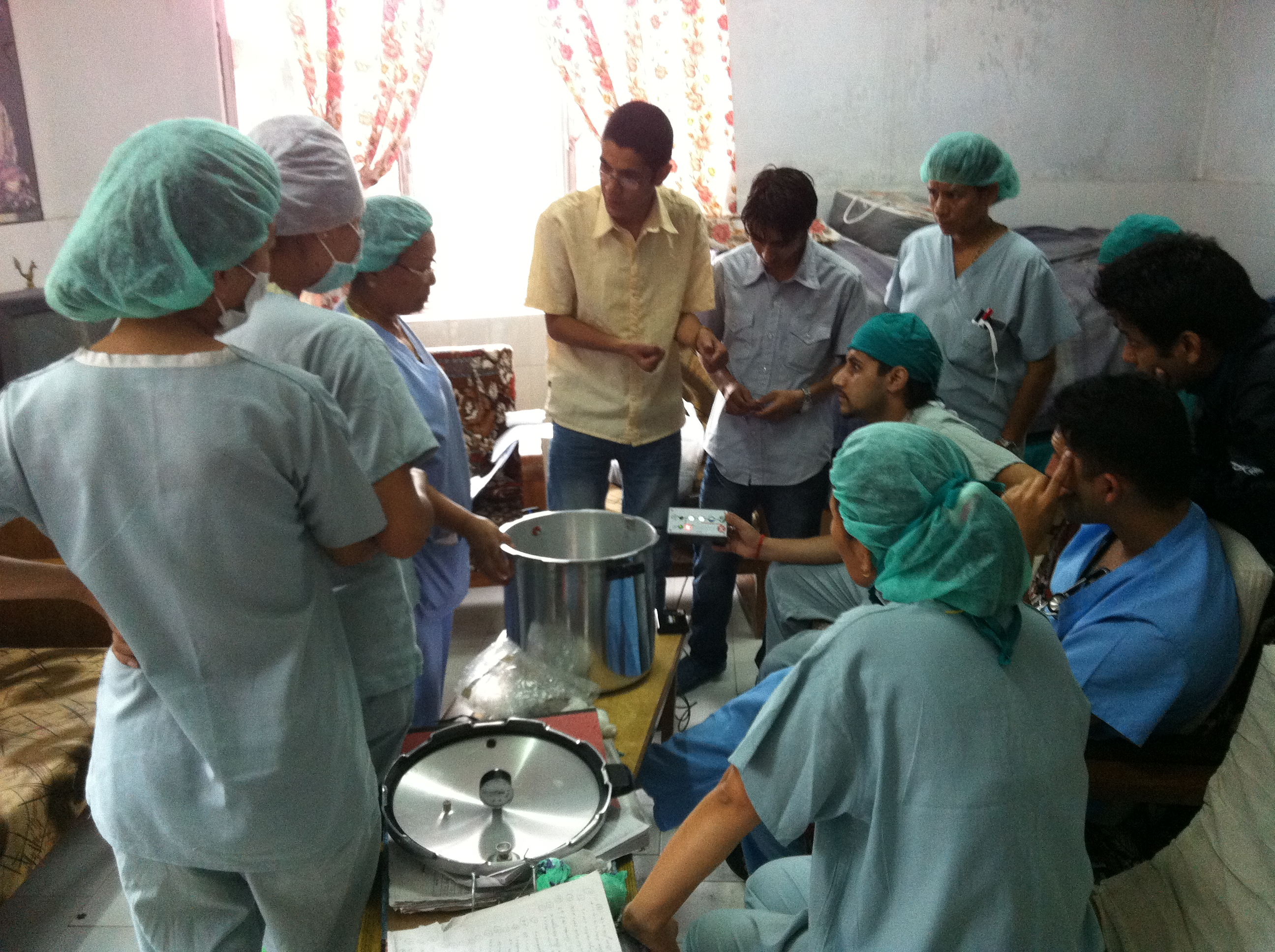 Providers using an OttoClave instrument sterilization system