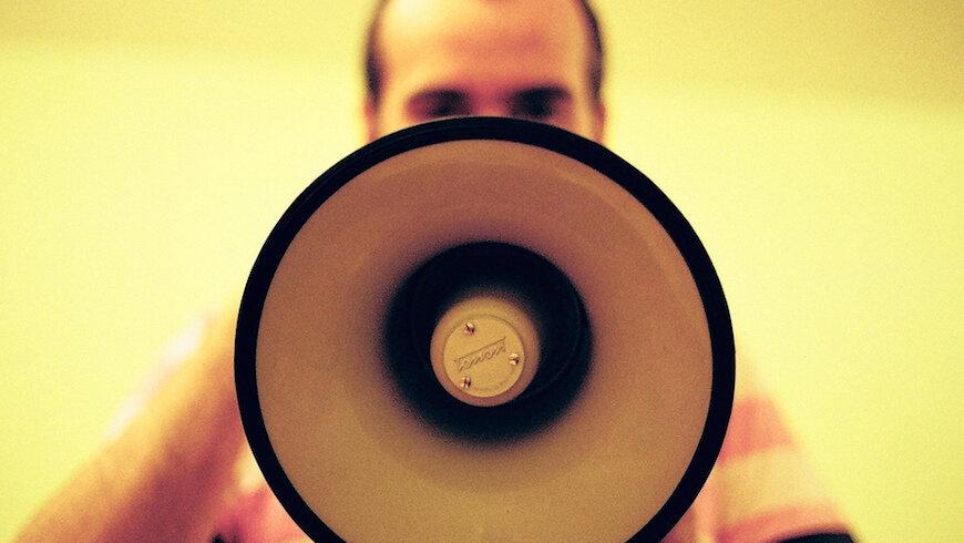 News stock image megaphone