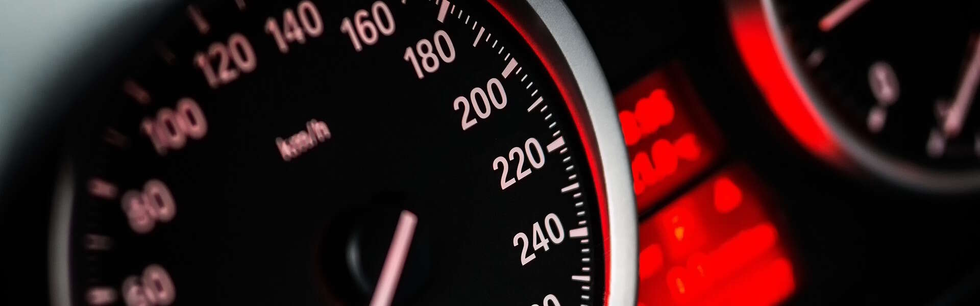 An automobile speedometer
