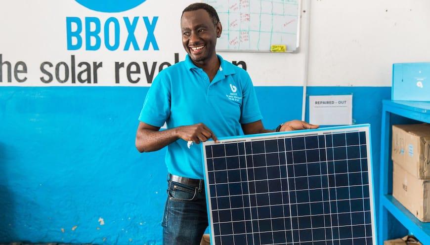 BBOXX Staff in rural Rwanda (Photo Credit: Power Africa)