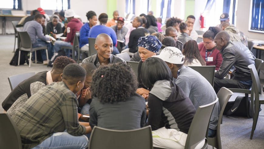 CASE social entrepreneurship group talking education