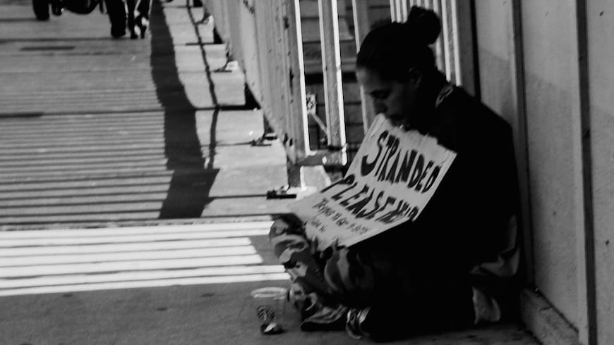 A homeless man in Chicago, NextBIllion.net