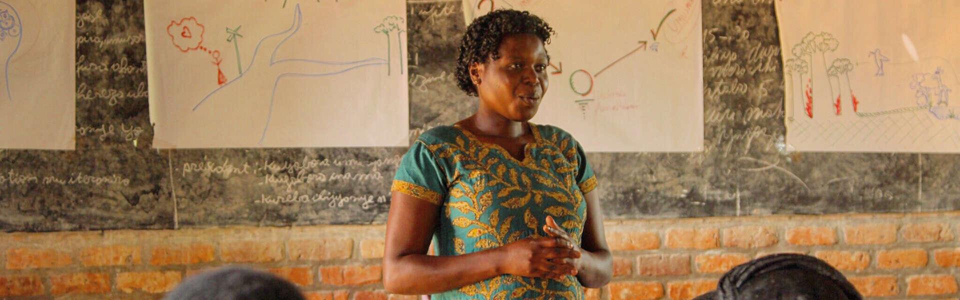 Woman in Resonate workshop