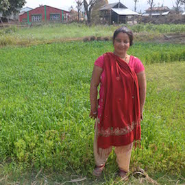 Sarita is a farmer who also runs a small village homestay in the Chitwan district of Nepal