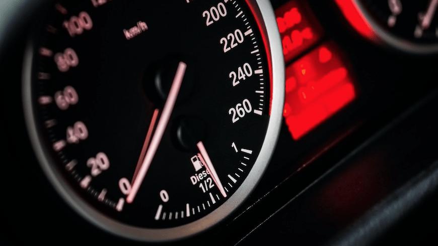 An automobile speedometer