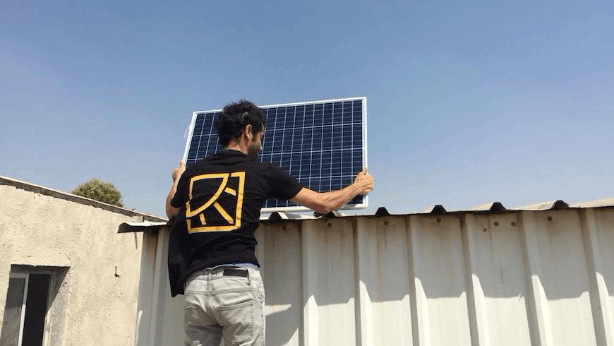 Installing solar power in Palestinian territories