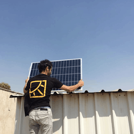 Installing solar power in Palestinian territories