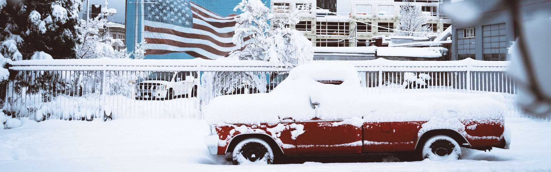 american urban city winter blight city
