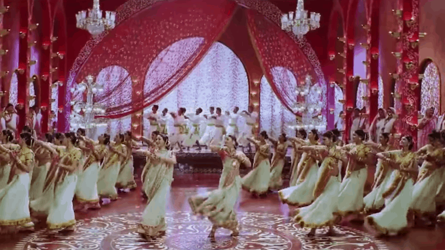 Dance scene from Bollywood film