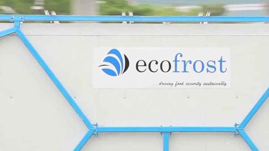 An Ecofrost cold storage unit.