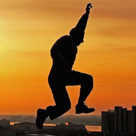 Image: Man leaping through the air, NextBillion.net