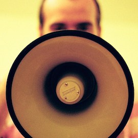 News stock image press release megaphone