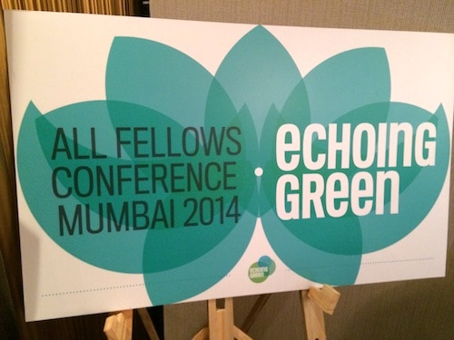 At Echoing Green's Inaugural Global Conference in Mumbai: With 400 million without electricity, you can't talk in small numbers here