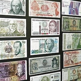 Image South American currency.